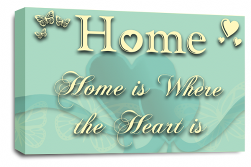 Home Quote Wall Art Picture Cream Duck Egg Love Print